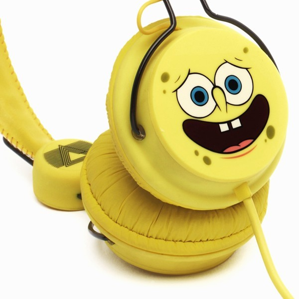 Happy Spongebob Headphones Coloud Happy Spongebob On