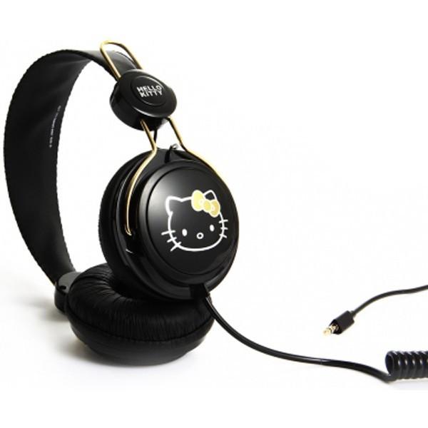 Black Amp Gold Hello Kitty Headphones Coloud Black Amp Gold