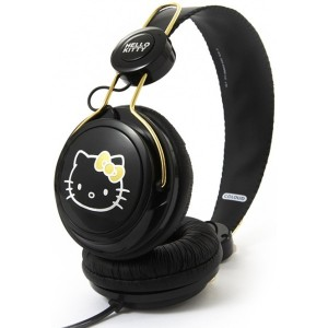 Casque Coloud - Black & Gold Hello Kitty