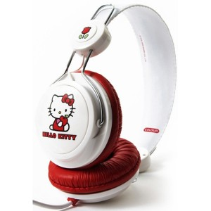 Casque Coloud - White & Red Hello Kitty
