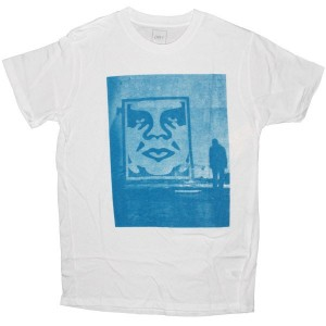 OBEY T-shirt - In the shadows - White