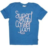 WESC T-Shirt - Superlative Mirror - Blue Pacific