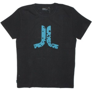 WESC T-shirt - Stash Icon Splatter - Black