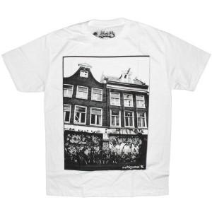 Ambiguous T-shirt - Bike house - White