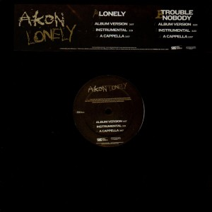 Akon - Lonely / Trouble nobody - promo 12''