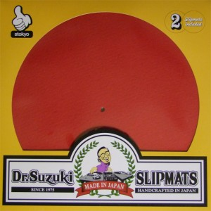 Dr. Suzuki - Red Mix Edition Slipmats - 2x Slipmats
