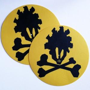 Feutrines Junkadelic -  Junkaz Lou Logo - Yellow/Black