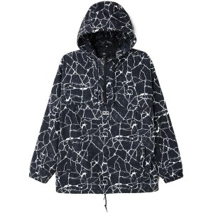 Veste Obey - Concrete Anorak Cracked - Black