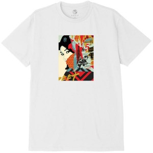 T-Shirt Obey - Obey Drink Crude Oil - White