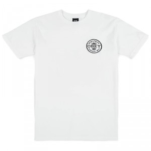 T-Shirt Obey - Obey Dissent Standards - White