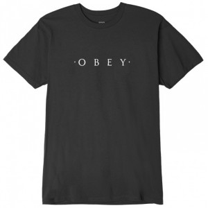 T-Shirt Obey - Novel Obey - Dusty Black