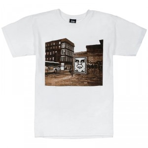 T-Shirt Obey - Obey Bus Photo - White