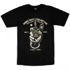 T-Shirt Obey - Smoke'Em - Black