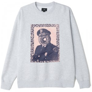 Sweatshirt Obey - Officer Sprinkles - Heather Grey