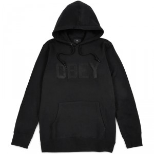 Sweat Capuche Obey - North Point Hood - Black