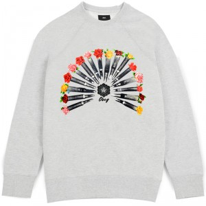Sweatshirt Femme Obey - 16 Bullets - Ash Heather
