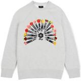 Sweatshirt Femme Obey - 16 Bullets - Ash Heather