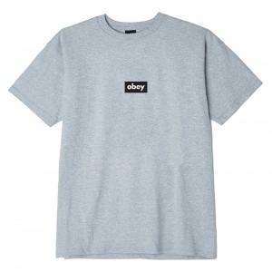 T-Shirt Obey - Obey Black Bar - Heather Grey