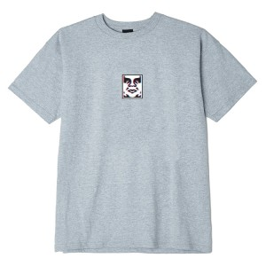 T-Shirt Obey - Obey Double Vision - Heather Grey