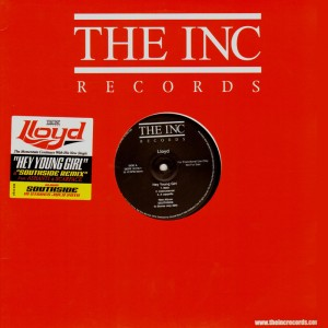 Lloyd - Hey young girl / Southside remix - promo 12''