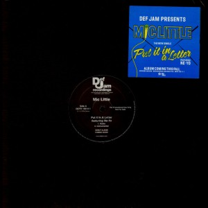 Mic Little - Put it in a letter / Golden state - promo 12''