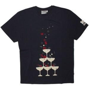 WESC T-shirt - Anniversary Champagne - Peacoat