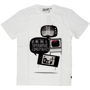 WESC T-shirt - TV Noice - White