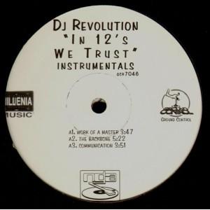 DJ Revolution - In 12's we trust (instrumentals) - 2LP