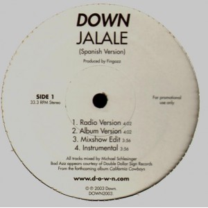 Down - Jalale (spanich version) / Jalale (english version) - promo 12''