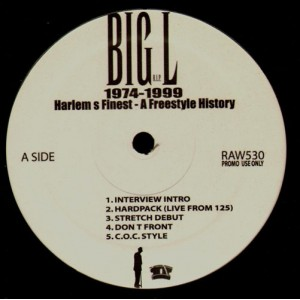 Big L - 1974-1999 Harlem's finest - a freestyle history - promo LP