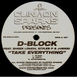 Clinton Sparks… (feat. D-Block, Lil'Kim, Freeway & Jay-Z) - promo 12''