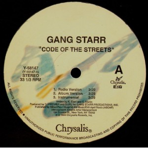 Gang Starr - Code of the streets / Speak ya clout - 12''