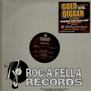 Kanye West - Gold digger / Diamond from Sierra Leone remix - promo 12''
