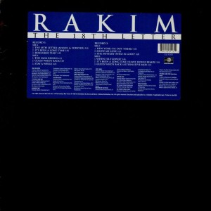 Rakim - The 18th letter - 2LP