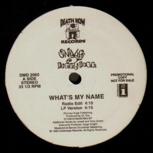 Snoop Dogg - What's my name - promo 12''