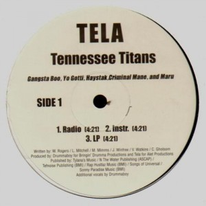 Tela - Tennessee titans / Incredible - 12''