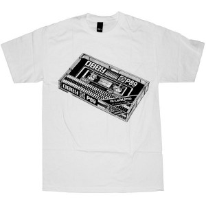 OBEY Basic T-Shirt - Obey Cassette Tape - White