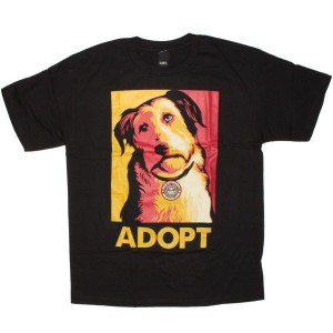 OBEY Awareness - Adopt a pet - Black
