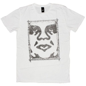 OBEY Thrift T-Shirt - Raw Hide - White