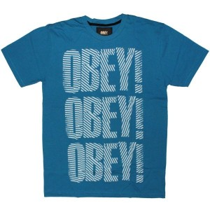 OBEY T-shirt - Earn Your Stripes - Blue