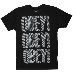 OBEY T-shirt - Earn Your Stripes - Black