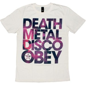 OBEY T-shirt - Death Metal Disco - Scour