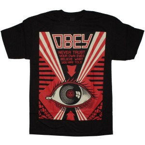 OBEY Basic t-shirt - Never Trust Your Own Eye- Black
