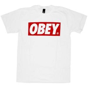 OBEY Basic T-Shirt - Obey Bar Logo - White