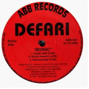 Defari - Bionic / Change & switch - 12''