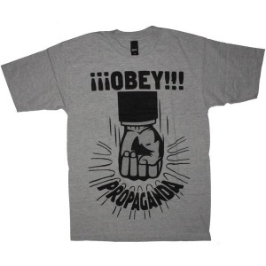 OBEY Basic T-Shirt - Propaganda Fist - Heather grey