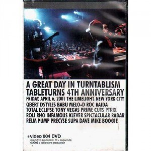 A great day in turntablism - Tableturns 4th anniversary - DVD