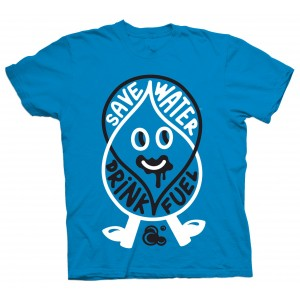 Ambiguous T-shirt - Save Water - Teal