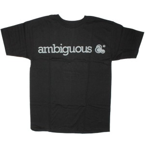Ambiguous T-shirt - Basic Tee - Black