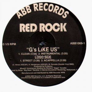 Red Rock - G's like us - 12''